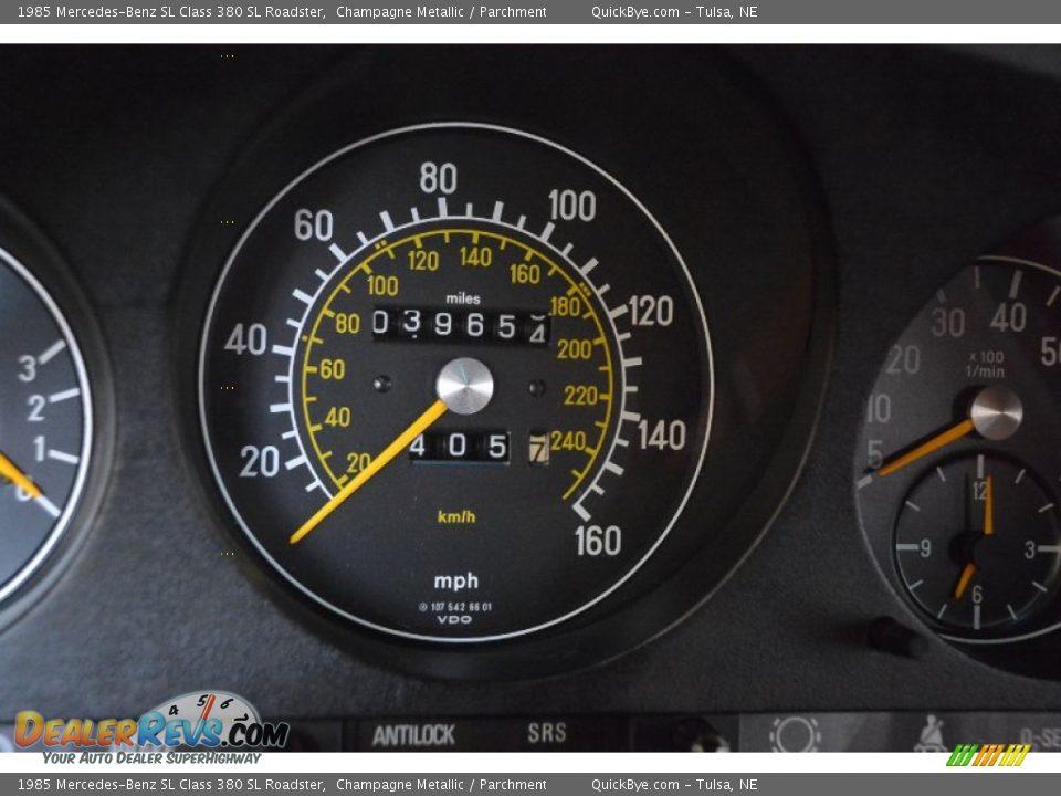 1985 Mercedes-Benz SL Class 380 SL Roadster Champagne Metallic / Parchment Photo #16