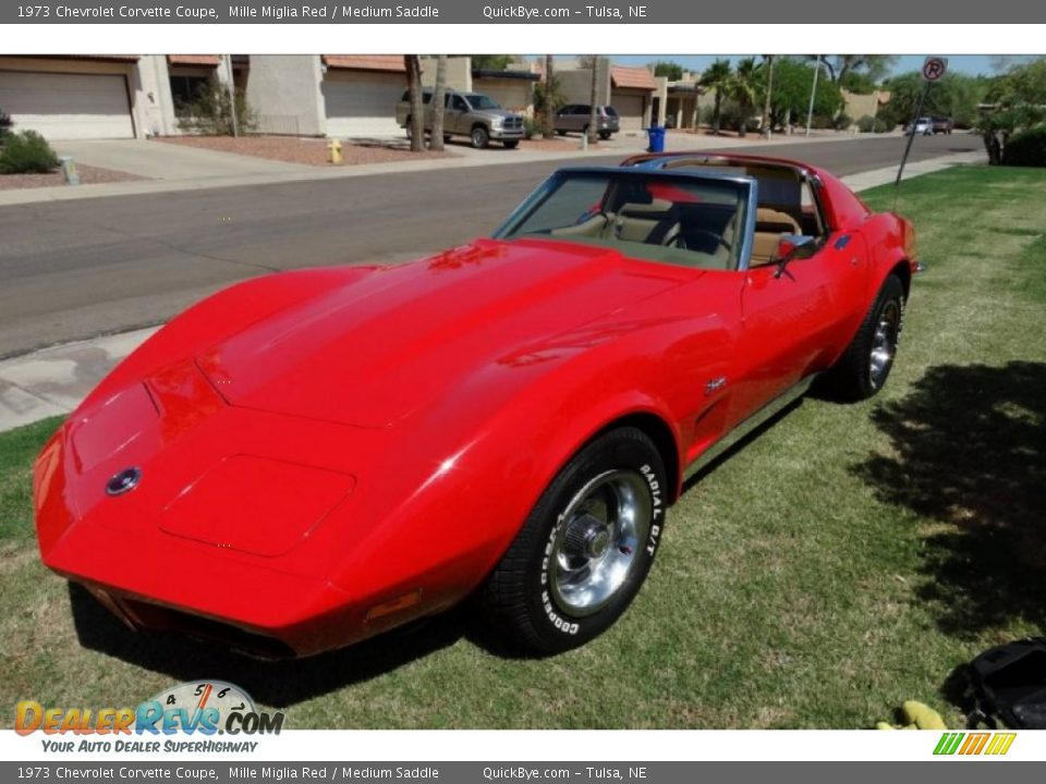 1973 Chevrolet Corvette Coupe Mille Miglia Red / Medium Saddle Photo #1