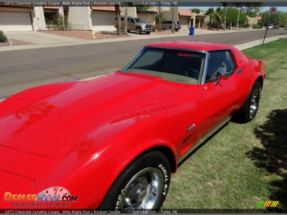 1973 Chevrolet Corvette Coupe Mille Miglia Red / Medium Saddle Photo #2