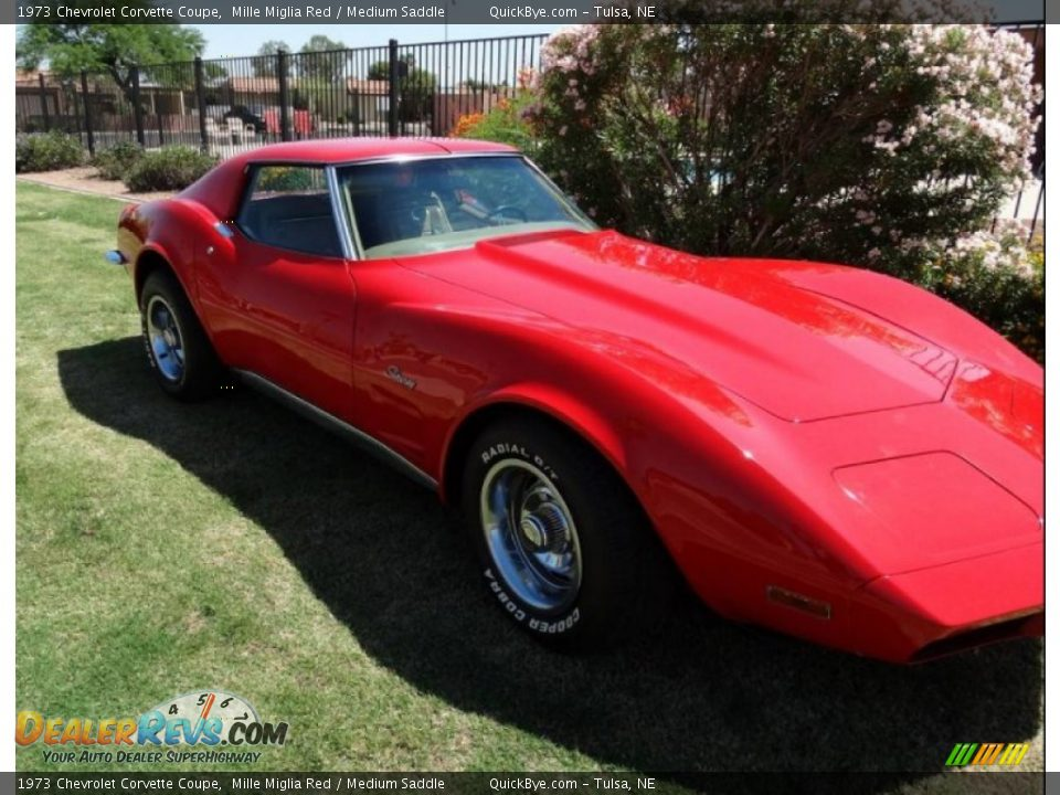 1973 Chevrolet Corvette Coupe Mille Miglia Red / Medium Saddle Photo #3