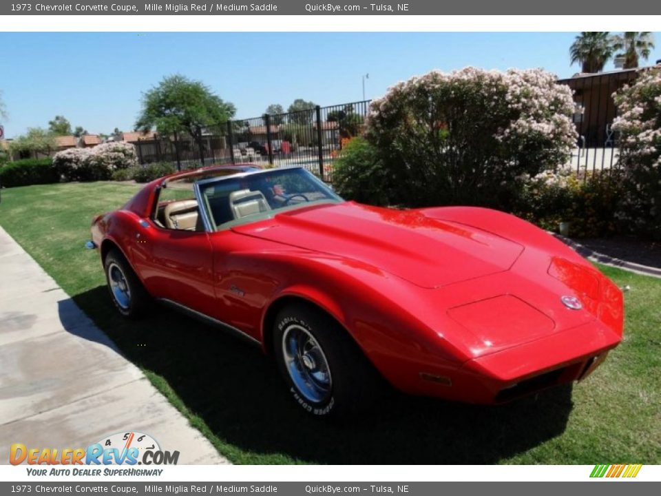 1973 Chevrolet Corvette Coupe Mille Miglia Red / Medium Saddle Photo #4