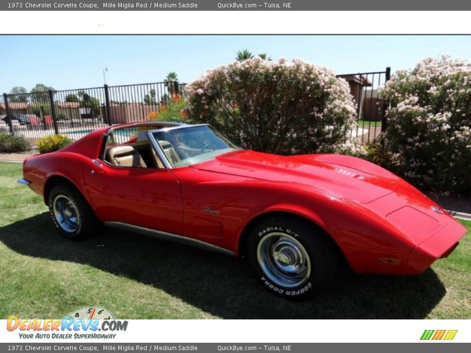1973 Chevrolet Corvette Coupe Mille Miglia Red / Medium Saddle Photo #5
