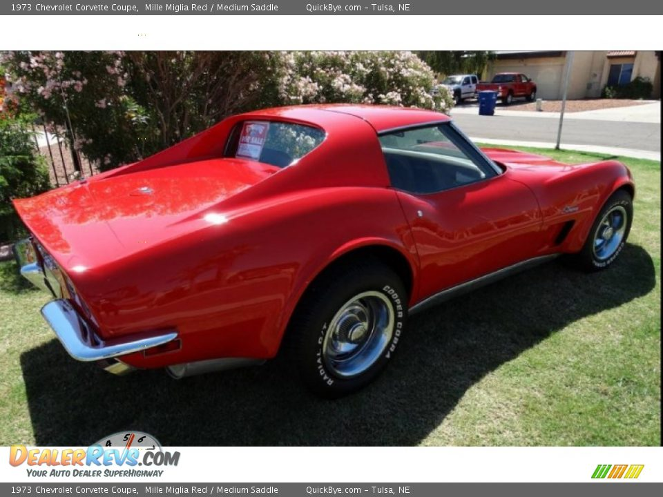 1973 Chevrolet Corvette Coupe Mille Miglia Red / Medium Saddle Photo #6