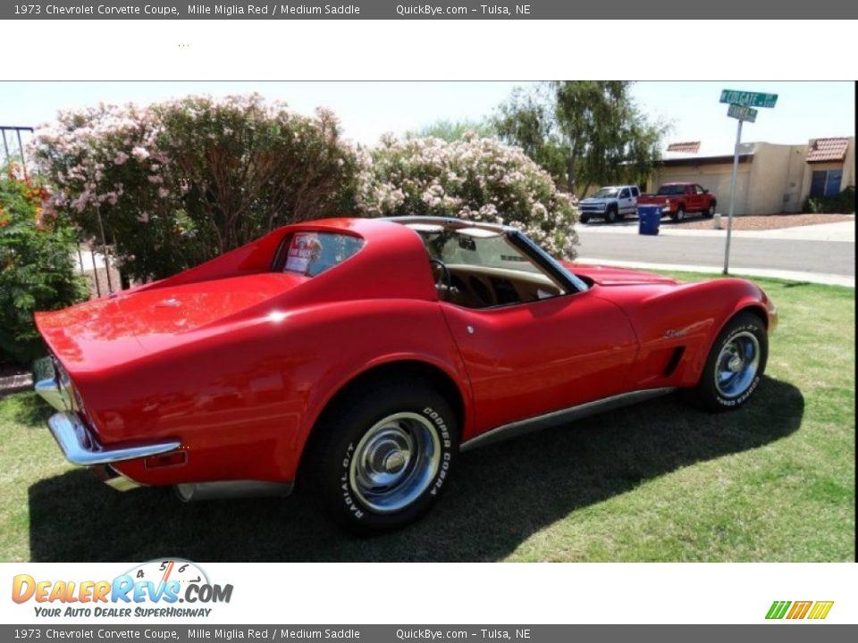 1973 Chevrolet Corvette Coupe Mille Miglia Red / Medium Saddle Photo #7