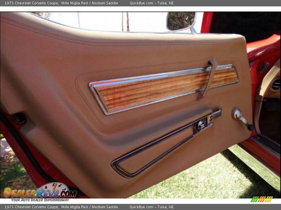 1973 Chevrolet Corvette Coupe Mille Miglia Red / Medium Saddle Photo #8