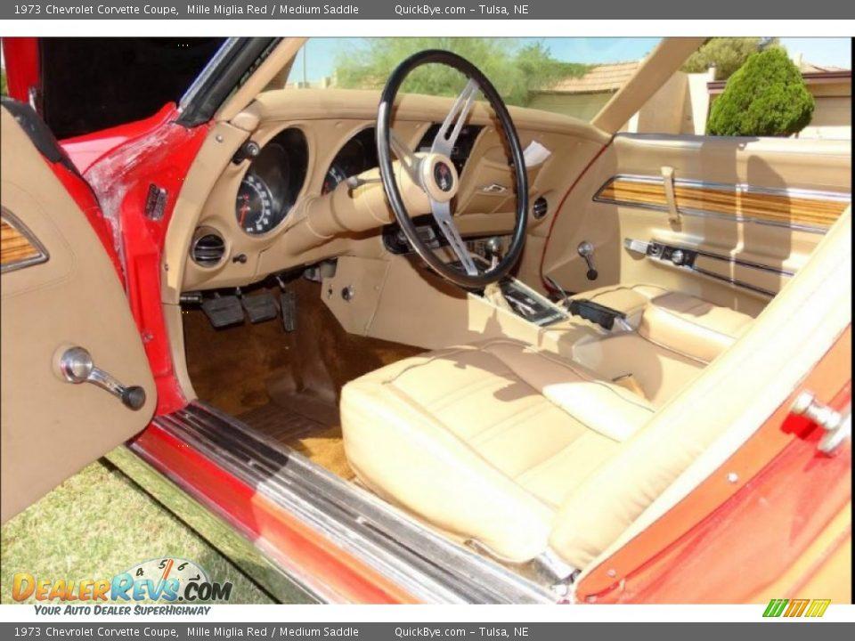 1973 Chevrolet Corvette Coupe Mille Miglia Red / Medium Saddle Photo #9