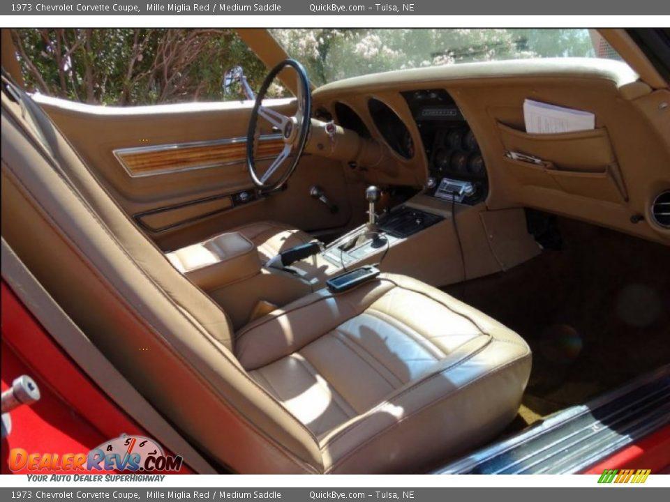 1973 Chevrolet Corvette Coupe Mille Miglia Red / Medium Saddle Photo #10