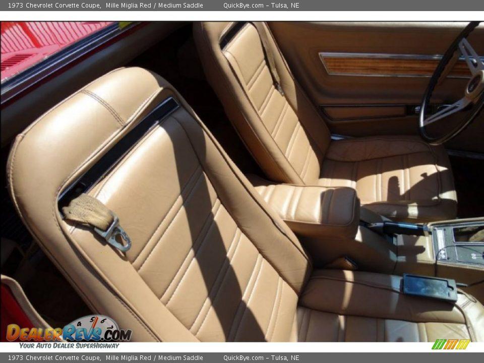 1973 Chevrolet Corvette Coupe Mille Miglia Red / Medium Saddle Photo #11