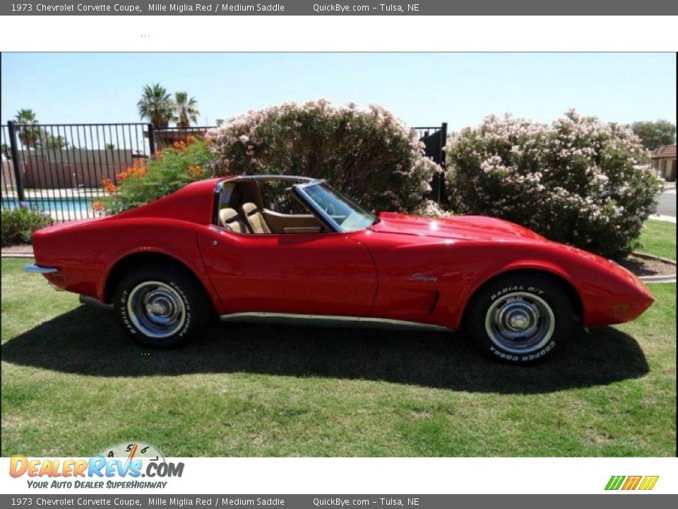 1973 Chevrolet Corvette Coupe Mille Miglia Red / Medium Saddle Photo #16