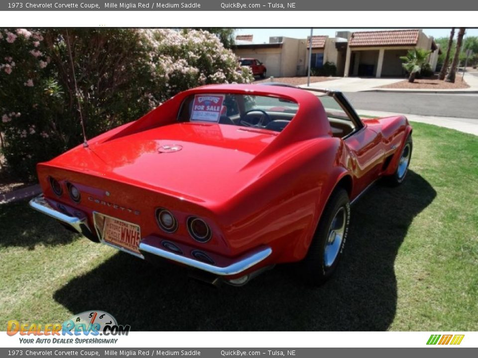 1973 Chevrolet Corvette Coupe Mille Miglia Red / Medium Saddle Photo #19