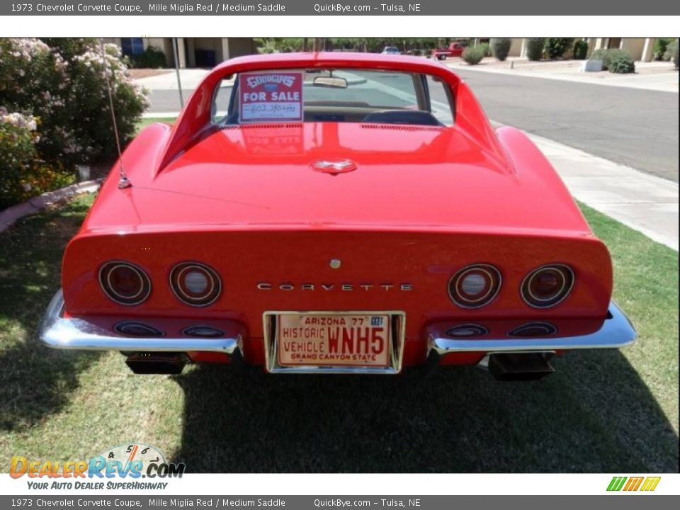 1973 Chevrolet Corvette Coupe Mille Miglia Red / Medium Saddle Photo #20