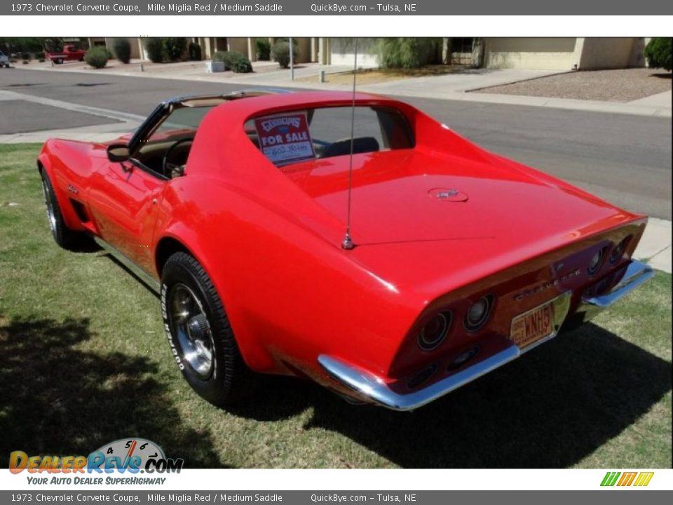 1973 Chevrolet Corvette Coupe Mille Miglia Red / Medium Saddle Photo #21