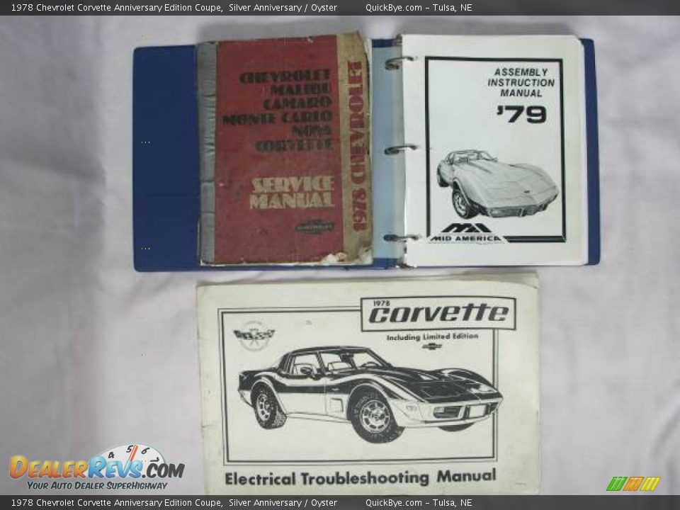 Books/Manuals of 1978 Chevrolet Corvette Anniversary Edition Coupe Photo #7