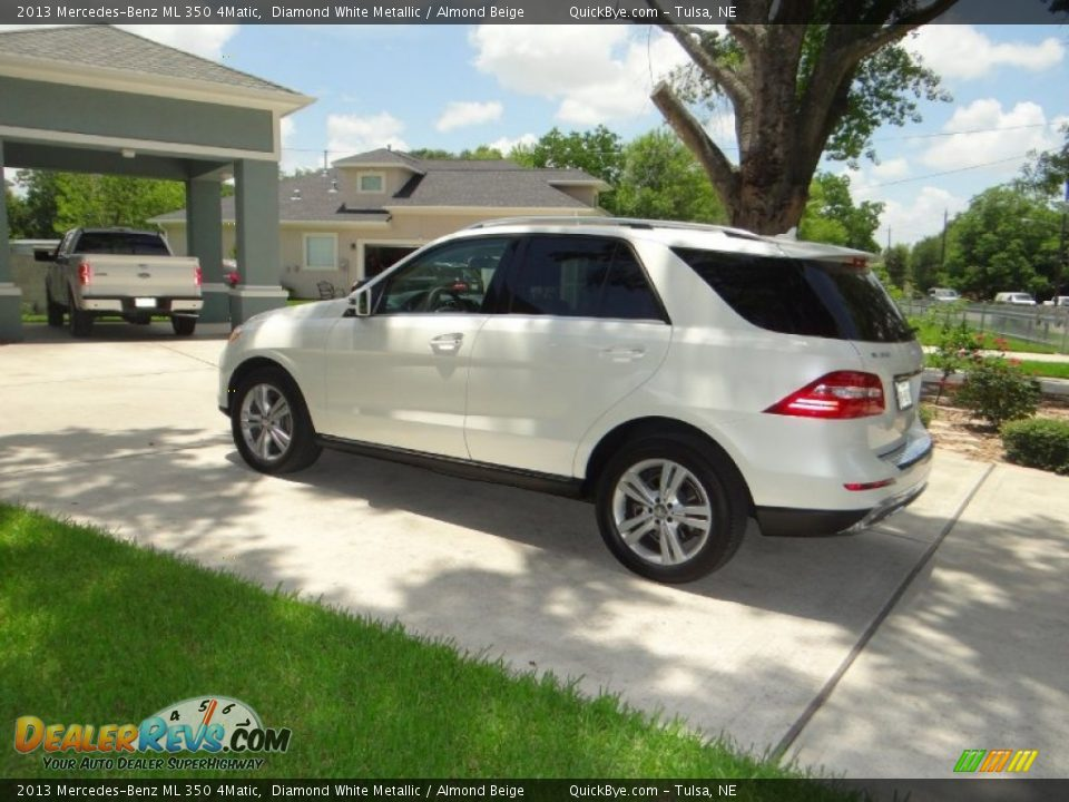 2013 Mercedes-Benz ML 350 4Matic Diamond White Metallic / Almond Beige Photo #3