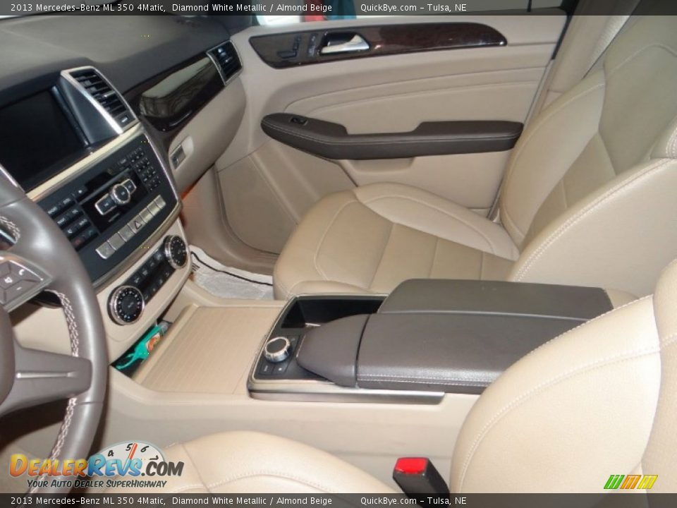 2013 Mercedes-Benz ML 350 4Matic Diamond White Metallic / Almond Beige Photo #7