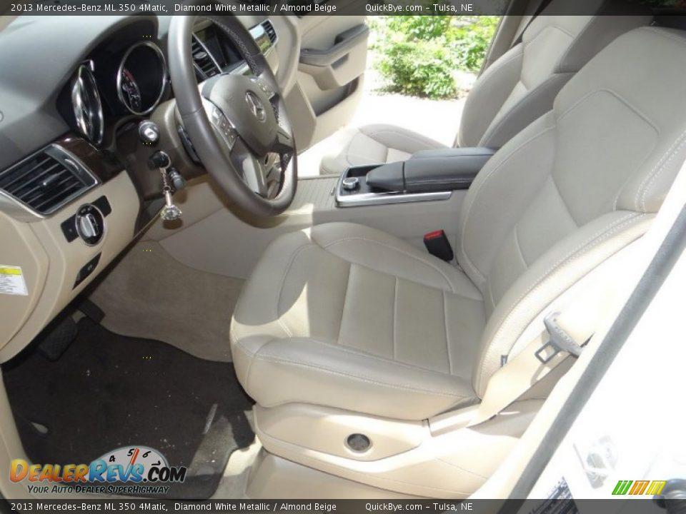 2013 Mercedes-Benz ML 350 4Matic Diamond White Metallic / Almond Beige Photo #8