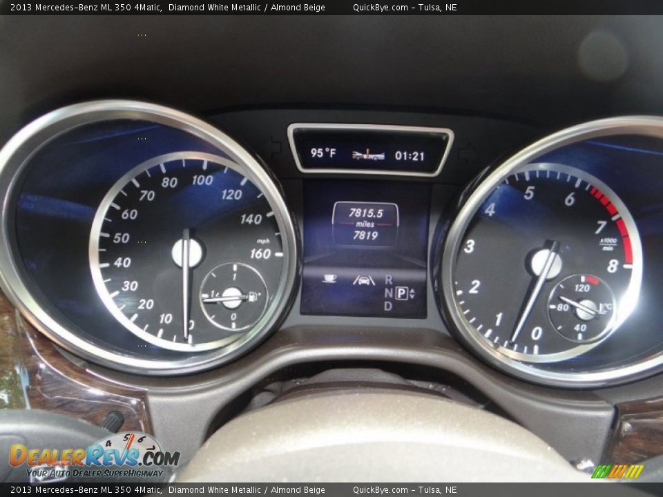 2013 Mercedes-Benz ML 350 4Matic Diamond White Metallic / Almond Beige Photo #10