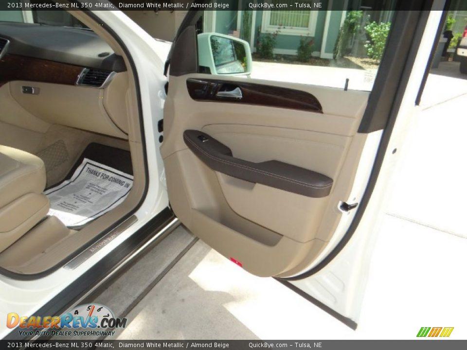 2013 Mercedes-Benz ML 350 4Matic Diamond White Metallic / Almond Beige Photo #12