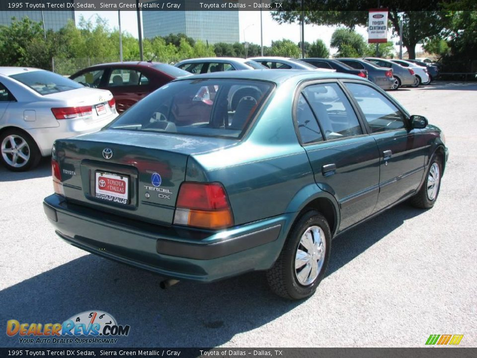 1995 Toyota Tercel Dx Sedan Sierra Green Metallic Gray