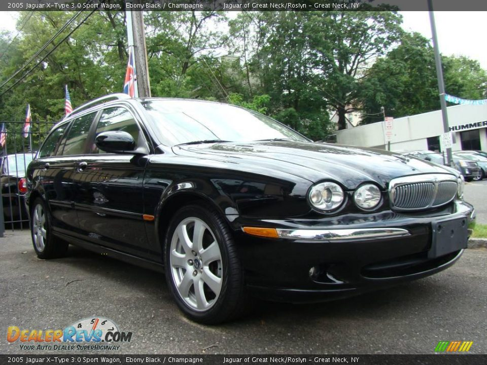 2005 jaguar x type 3 0 sport wagon ebony black champagne photo 3. Black Bedroom Furniture Sets. Home Design Ideas