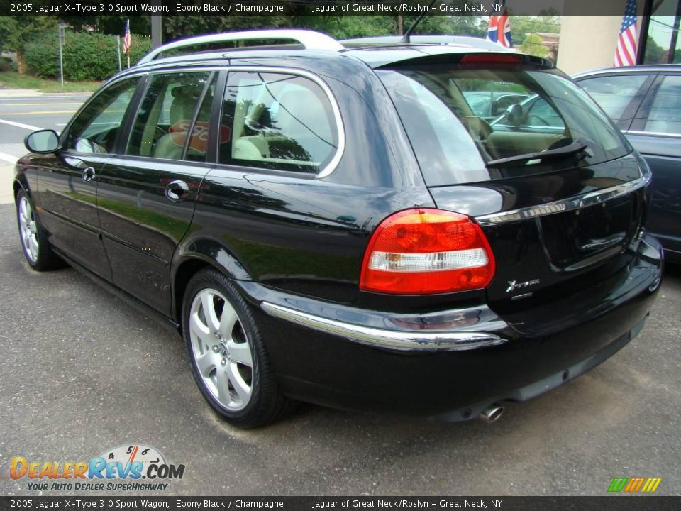 2005 jaguar x type 3 0 sport wagon ebony black champagne photo 4. Black Bedroom Furniture Sets. Home Design Ideas