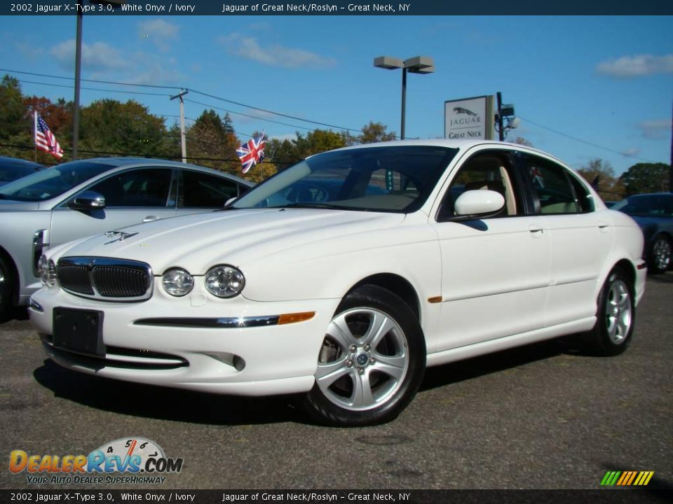 2002 jaguar x type 3 0 white onyx ivory photo 1. Black Bedroom Furniture Sets. Home Design Ideas