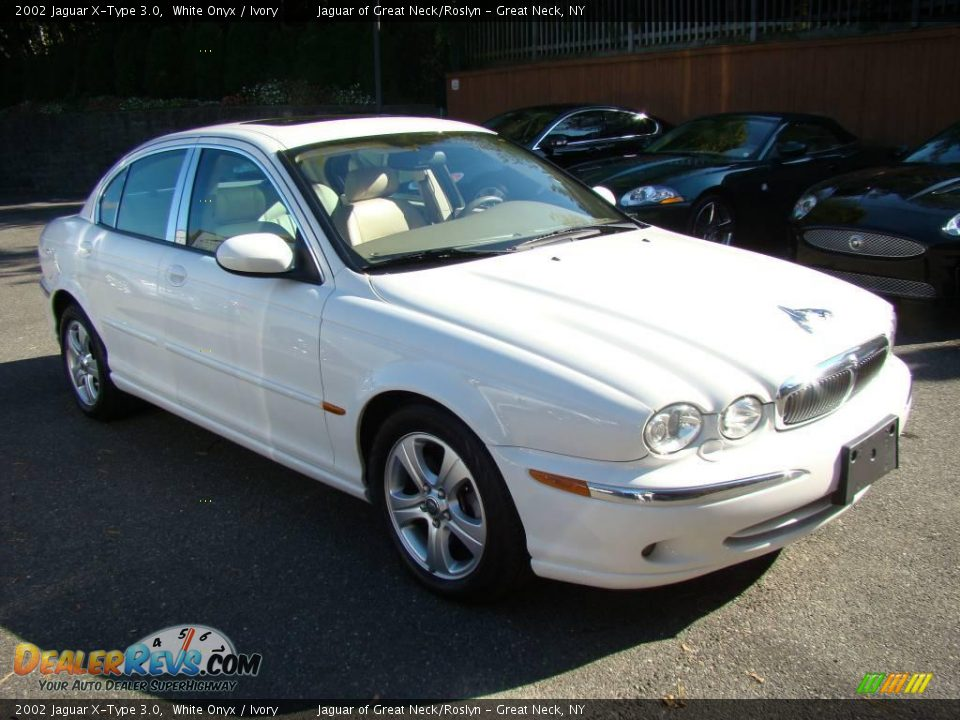2002 jaguar x type 3 0 white onyx ivory photo 6. Black Bedroom Furniture Sets. Home Design Ideas