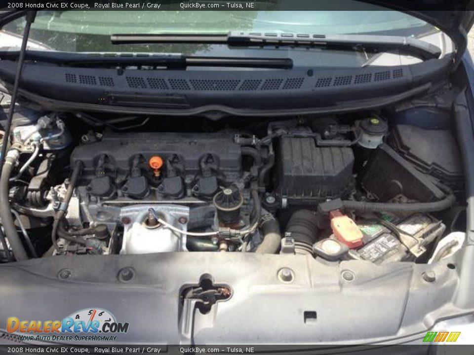 2008 Honda Civic EX Coupe Royal Blue Pearl / Gray Photo #3