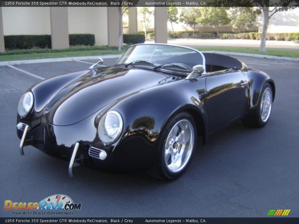 1956 Porsche 356 Speedster Gtr Widebody Recreation Black Grey Photo 1 Dealerrevs Com