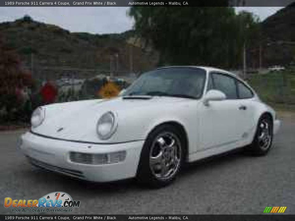 1989 porsche 911 carrera 4 coupe grand prix white black photo 3. Black Bedroom Furniture Sets. Home Design Ideas