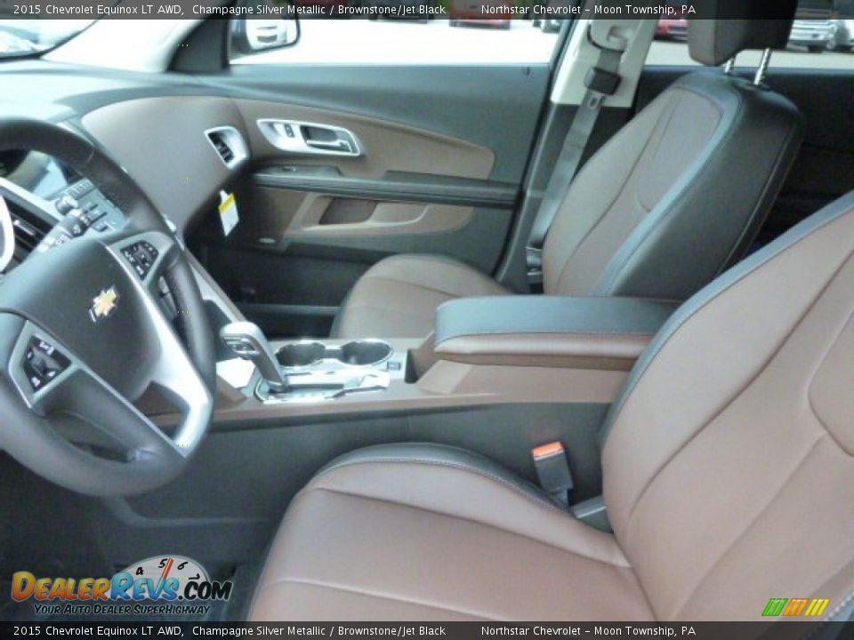 Brownstone Jet Black Interior 2015 Chevrolet Equinox Lt Awd Photo 10
