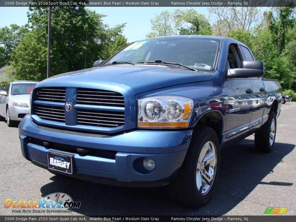 2006 dodge ram 1500 sport quad cab 4x4 atlantic blue pearl medium slate gray photo 1. Black Bedroom Furniture Sets. Home Design Ideas