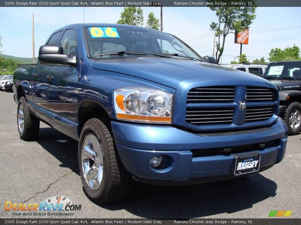 2006 dodge ram 1500 sport quad cab 4x4 atlantic blue pearl medium slate gray photo 3. Black Bedroom Furniture Sets. Home Design Ideas