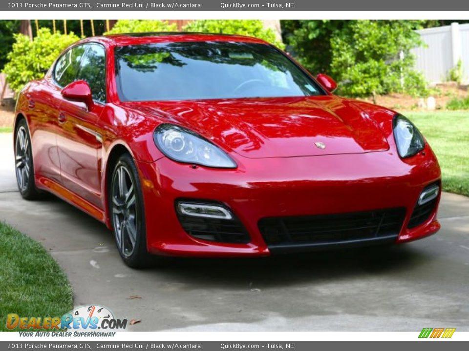 2013 Porsche Panamera GTS Carmine Red Uni / Black w/Alcantara Photo #2
