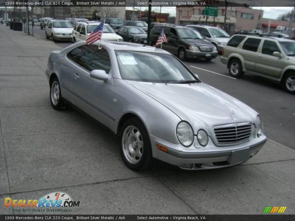 1999 mercedes benz clk 320 coupe brilliant silver metallic ash photo 1. Black Bedroom Furniture Sets. Home Design Ideas