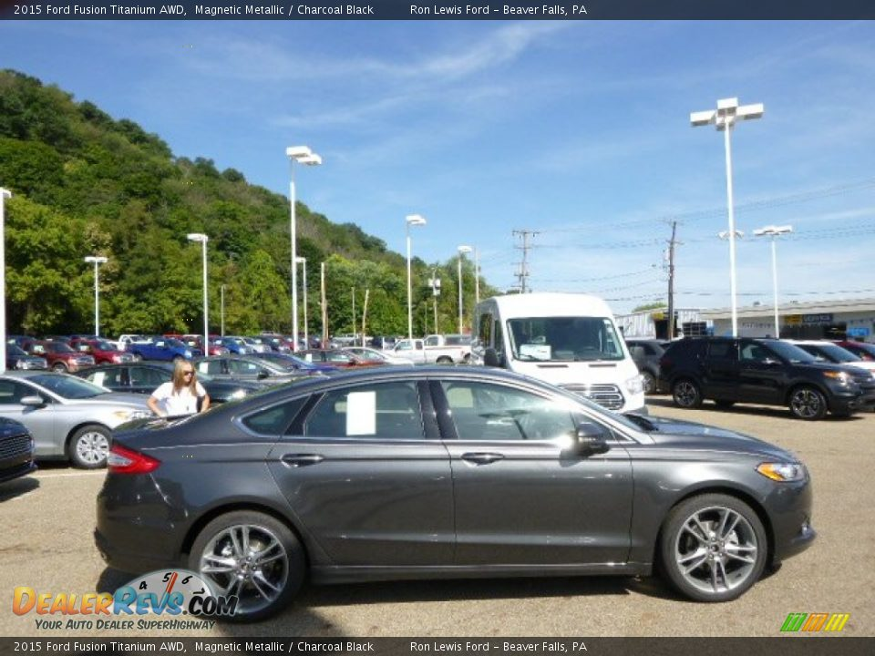 2015 Ford Fusion Titanium AWD Magnetic Metallic / Charcoal Black Photo ...