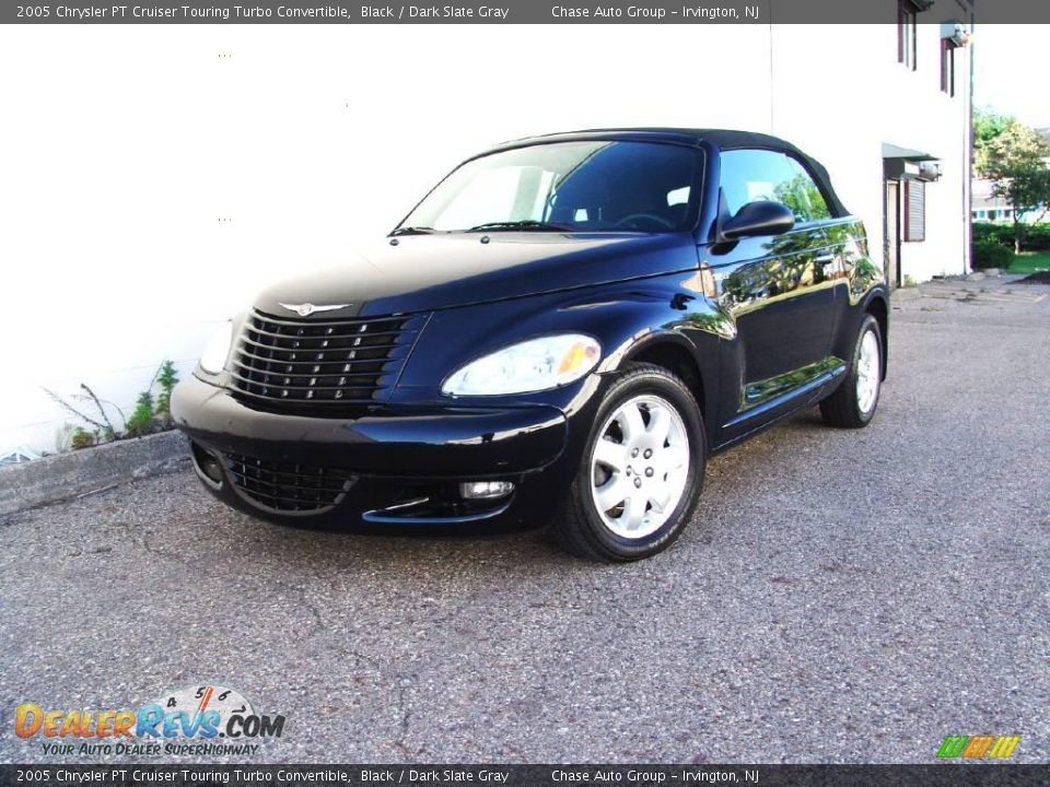 2005 chrysler pt cruiser touring turbo convertible black dark slate gray photo 1. Black Bedroom Furniture Sets. Home Design Ideas