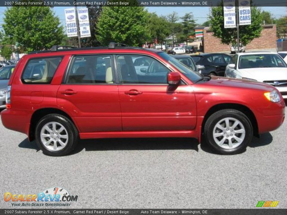 2007 Subaru Forester 2 5 X Premium Garnet Red Pearl Desert Beige Photo 4 Dealerrevs Com