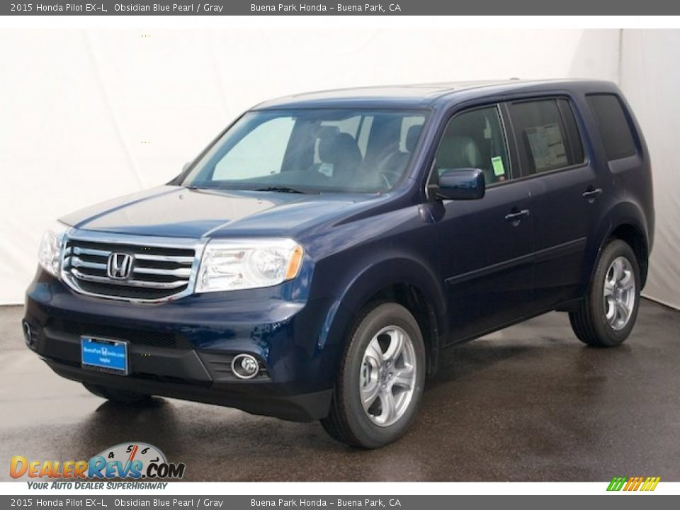 2015 honda pilot ex l obsidian blue pearl gray photo 3. Black Bedroom Furniture Sets. Home Design Ideas