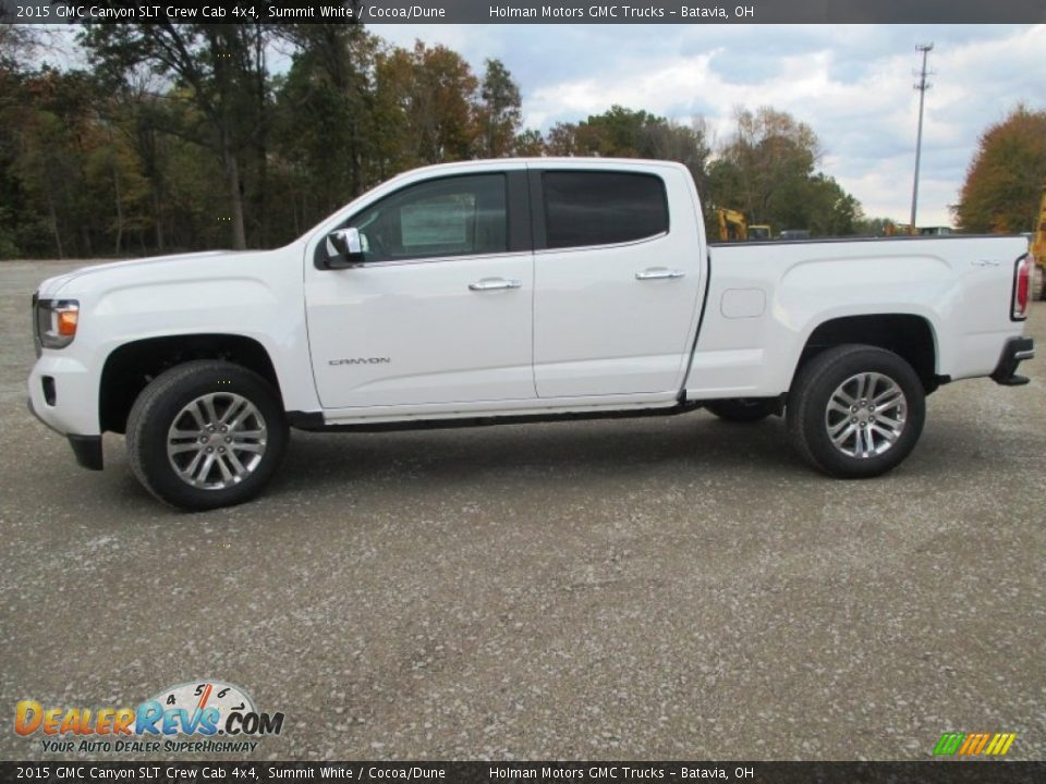 summit white 2015 gmc canyon slt crew cab 4x4 photo 3. Black Bedroom Furniture Sets. Home Design Ideas