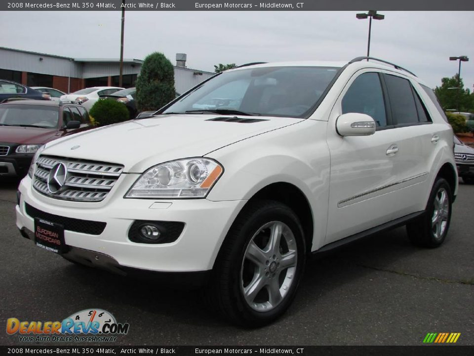 2008 mercedes benz ml 350 4matic arctic white black for Mercedes benz ml 350 2008