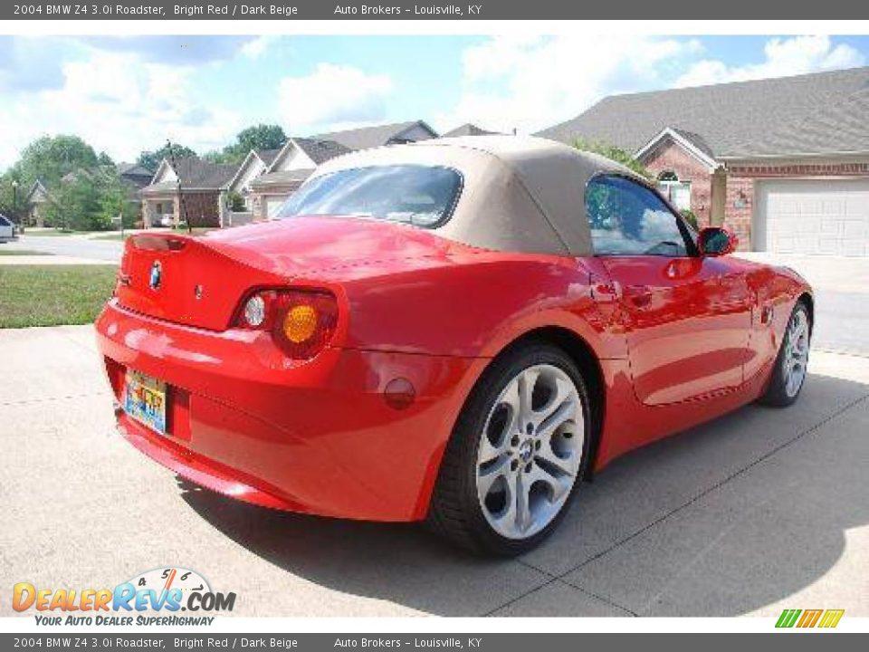 2004 Bmw Z4 3 0i Roadster Bright Red Dark Beige Photo 7