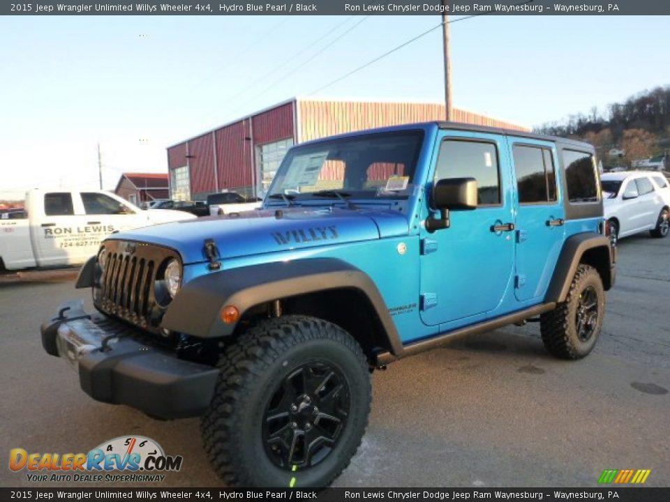 2015 jeep wrangler unlimited willys wheeler 4x4 hydro blue pearl black photo 1 dealerrevs com