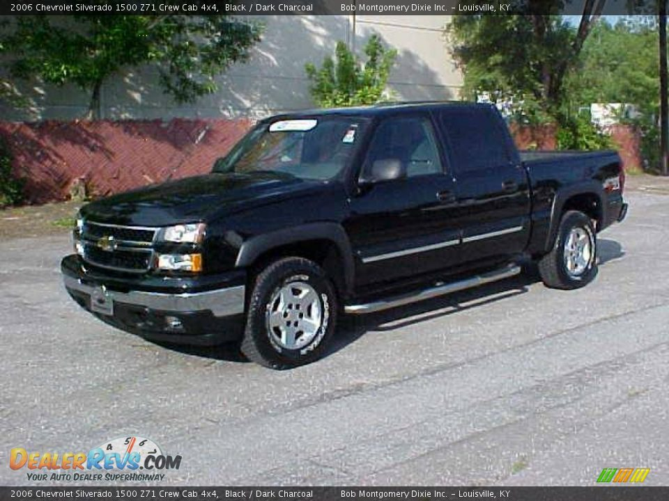 2006 chevrolet silverado 1500 z71 crew cab 4x4 black dark charcoal photo 1 dealerrevs com