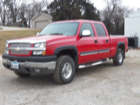 Victory Red Chevrolet Silverado 2500HD LT Crew Cab 4x4.  Click to enlarge.