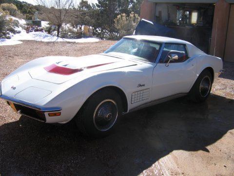 Classic White Chevrolet Corvette Stingray Coupe.  Click to enlarge.