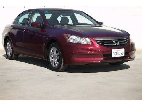 Basque Red Pearl II Honda Accord LX Premium Sedan.  Click to enlarge.