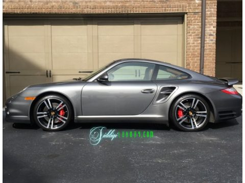 Meteor Grey Metallic Porsche 911 Turbo Coupe.  Click to enlarge.