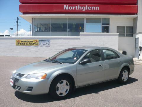 Satin Jade Pearl 2005 Dodge Stratus SXT Sedan with Dark Slate Gray interior