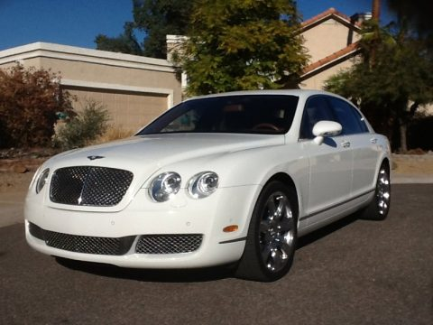 Glacier White Bentley Continental Flying Spur .  Click to enlarge.
